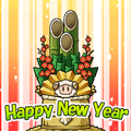 G-point Kadomatsu Sheep Happy New Year
